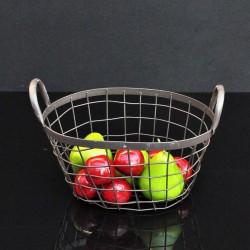 Koszyk metalowy - biały