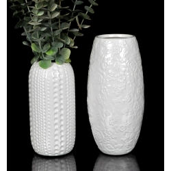 Wazon ceramiczny - w kwiatki. 27cm