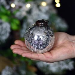 Bombka szklana - SREBRNA 7,5CM