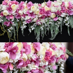 Girlanda kwiatowa - wisząca.