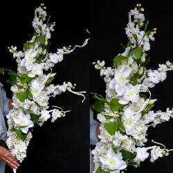 "Girlanda kwiatowa 3D BIAŁA ""S"""