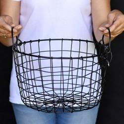 Koszyk metalowy - Czarny 18/30cm