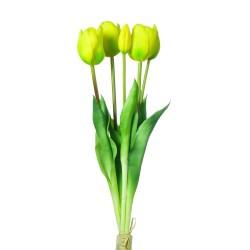 Bukiet tulipanów x 5 SILIKONOWY - ZÓŁTY