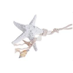 Rozgwiazda - zawieszka WHITE 12cm