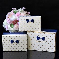 Ozdobne pudełka 3szt. GRANAT/BIEL/ZŁOTY