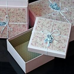 Pudełka 3szt.  RÓŻ
