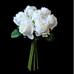 Bukiet róż BIAŁE - EXCLUSIVE 7szt.