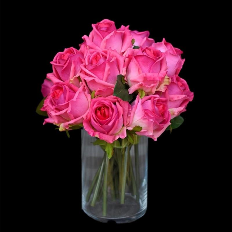 Róże w wazonie - 16szt. Nr 021