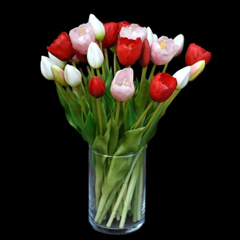 Tulipany w wazonie - 28szt....