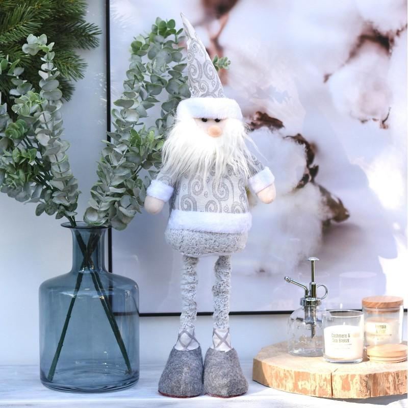 Mikołaj szary. 67x23 cm