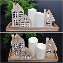 Drewniany domek - półka. M